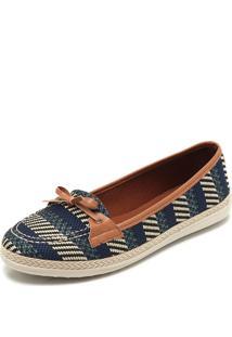 7e4ec8874 Dafiti. Mocassim Listrado Feminino Azul Marinho Bege Listras Azul-Marinho/Bege  Dafiti Shoes