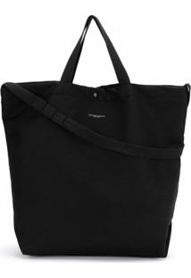Engineered Garments Bolsa Tote Com Estampa De Logo - Preto