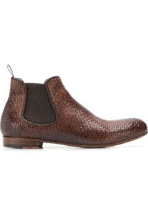 Lidfort Elastic Ankle Boots - Marrom