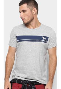 Camiseta Acostamento Bicolor Masculina - Masculino-Mescla Escuro