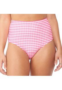 Calcinha Praia Hot Pant Vichy Pink Capricho | 573.7126