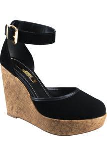 Sapato Anabela Feminino Moleca