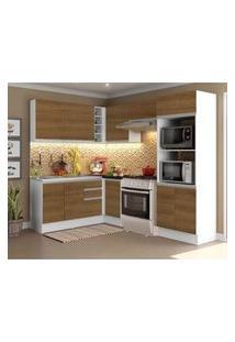 Cozinha Completa Madesa 100% Mdf Acordes Glamy De Canto Rustic/Branco