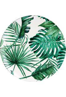 Sousplat Florist Branco E Verde