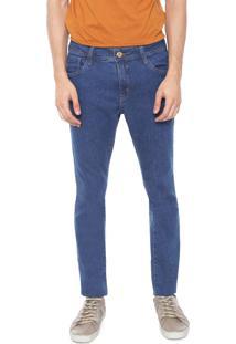 Calça Jeans Denuncia Skinny Pespontos Azul