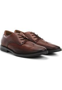 Sapato Social West Coast Dallas Amarração Masculino - Masculino-Caramelo