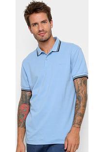 Camisa Polo Colcci Básica Masculina - Masculino-Azul Claro