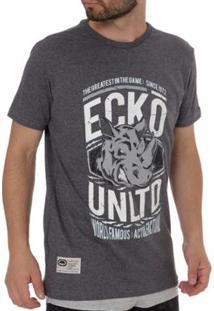 Camiseta Ecko Unltd Masculina - Masculino-Cinza