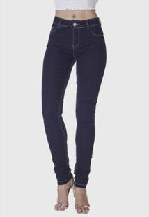 Calça Jeans Hno Jeans Skinny Strass Bolso Feminina - Feminino