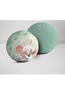 Kit 2 Almofadas Redondas Easter Cute