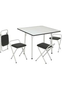 Conjunto De Mesa Com 4 Cadeiras Dani Corino Branco - Única