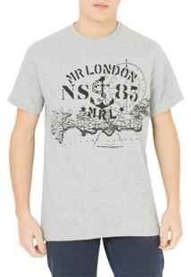 Camiseta Mr. London Nautica Cinza
