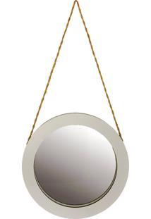 Espelho Redondo 50 Cm Crie Casa Branco