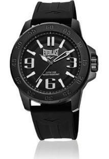 3d458b1a49d ... Relógio Pulso Everlast E696 Caixa Aço E Pulseira Silicone - Masculino