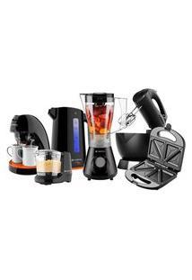 Kit Cadence Cozinha Black Completa - 220V
