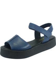 Sandália S2 Shoes Flatform Betina Azul Jeans