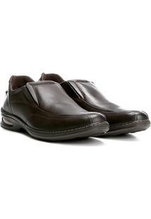 4ab8b97204 ... Sapato Social Couro Pegada Gel Solado Masculino - Masculino-Marrom  Escuro