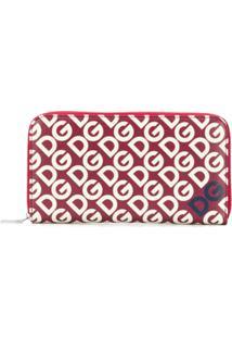 Dolce & Gabbana Carteira Com Estampa De Logo - Vermelho