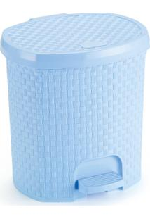 Lixeira 6 Litros Rattan Azul Bebe - Transparente - Dafiti