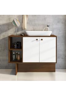 Gabinete Para Banheiro 2 Portas Tok Estilare Branco