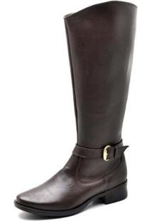 Bota Montaria Top Franca Shoes Feminina - Feminino-Cafe