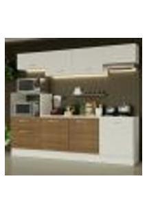 Cozinha Completa Madesa Onix 240003 Com Armário E Balcão - Branco/Rustic 099B