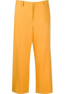 Eleventy Calça Pantacourt - Amarelo