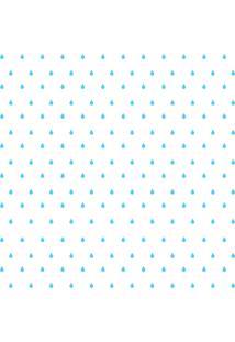Adesivo De Parede Gotinhas Azul-Claras Para Quarto 151Un Cobre 3M2 - Azul - Dafiti