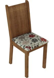 Kit 4 Cadeiras Rustic Hibiscos Madesa4290