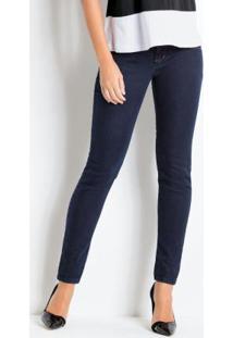 Calça Skinny Jeans Escuro