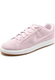 Tênis Couro Nike Sportswear Wmns Court Ro Rosa