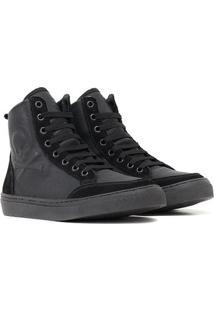 Tênis Couro Sneaker Crazzy - Unissex-Preto