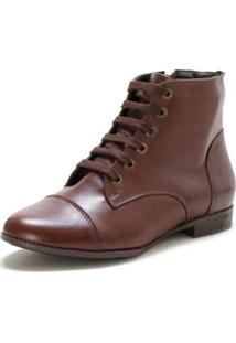 Bota Casual Couro Dia A Dia Doc Shoes Feminina - Feminino