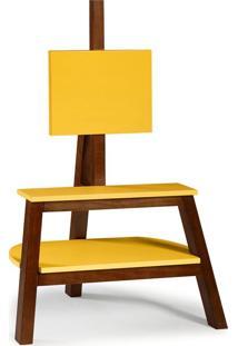 Rack Bowie Cacau E Amarelo 81 Cm