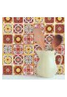 Adesivo De Azulejo Rubro 15X15 Cm Com 18Un