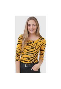 Blusa Malwee Tigre Amarela