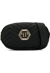 Philipp Plein Junior Faux Leather Clutch - Preto