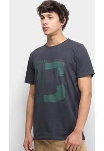 Camiseta Colcci World Tour Masculina - Masculino-Preto