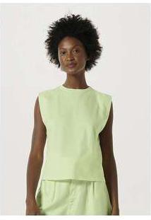 Blusa Básica Feminina Muscle Tee Verde