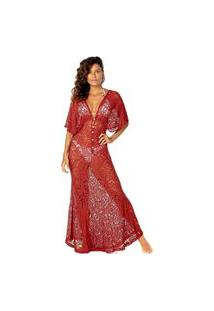 Vestido Flee Longo Liz Pinháo