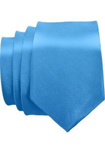 Gravata Unyforme Slim Azul Turquesa