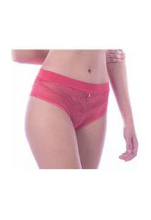 Calcinha Fio Duplo Em Renda E Microfibra Beauty Plus Size Thais Ferreira Ref:199502
