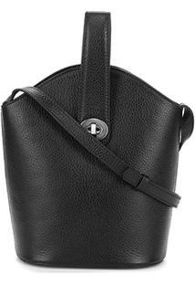 Bolsa Shoulder Bag Couro Dumond Relax Feminina - Feminino-Preto