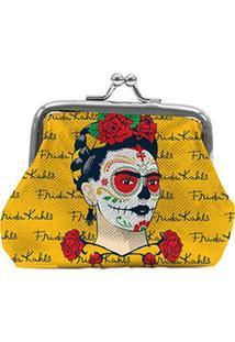 Porta Moedas Amarelo Em Pu Frida Kahlo Urban