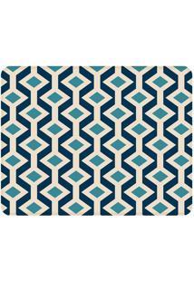 Tapete Geometric Retro- Azul Escuro & Azul Claro- 12Wevans