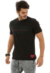 Camiseta Camiseta Everlast Greatness Is Within - Masculino-Preto+Pink