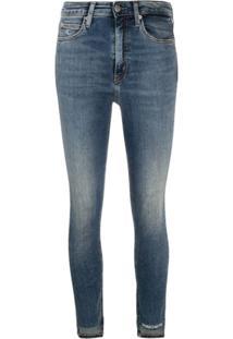 Calvin Klein Jeans Calça Jeans Skinny Com Efeito Desbotado - Azul