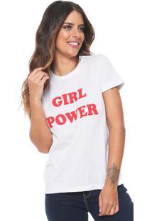 cd1947508e Camisa Pólo Branca Decote Redondo feminina