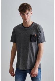 Camiseta Pf Listra Bolso Reserva Masculina - Masculino-Preto