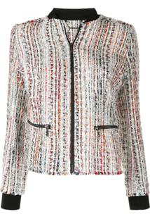 Elie Tahari Brooke Frayed Tweed Jacket - Estampado